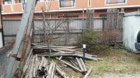 平成29年 4月11日 宮城野区にて柵撤去作業。
