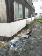 8月28日~30日。関西ペイント様にて産廃鉄物の撤去でした。