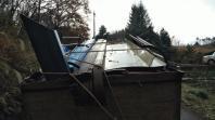 12月4日。作業場の廃材撤去の作業です。