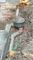 12月14日。下水配管詰まりの交換作業です。