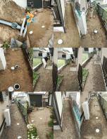 下水配管工事① 南光台東の現場