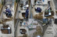 下水配管工事② 南光台6丁目の現場